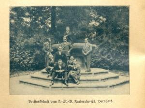Vorstandschaft des Jungmännervereins St. Bernhard, dem Stammverband der DJK Ost, 1928